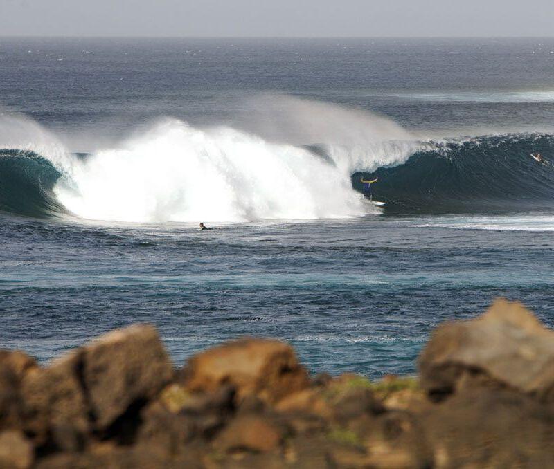 Olas potentes de Lanzarote